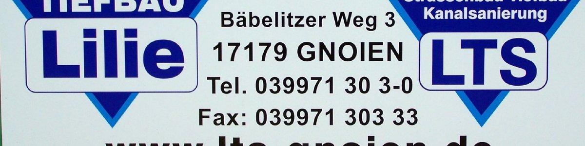LTS Tief- und Strassenbau * Bäbelitzer Weg 3 * 17179 Gnoien